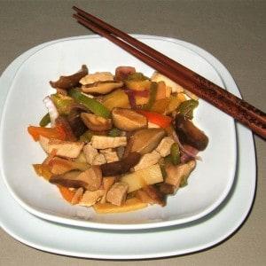 Porc asiatique aux shiitakés