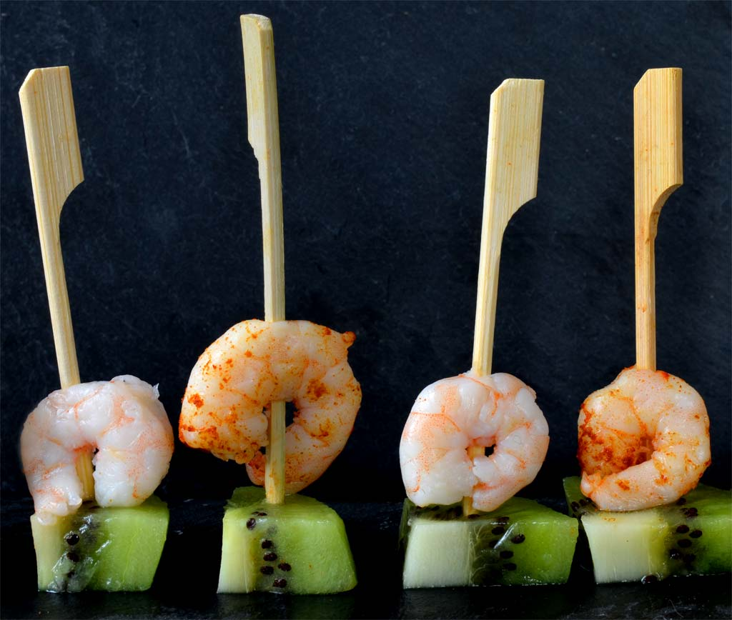 Brochettes ap ritives crevette kiwi ma cuisine sant - Brochettes aperitives sans cuisson ...
