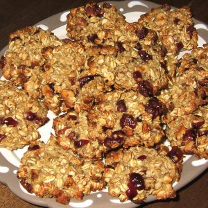 Cookies coco-canneberges