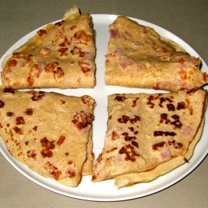 Crêpes rustiques au jambon fromage