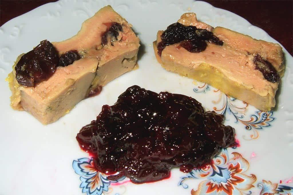 foie gras aux cerises ma cuisine sant. Black Bedroom Furniture Sets. Home Design Ideas