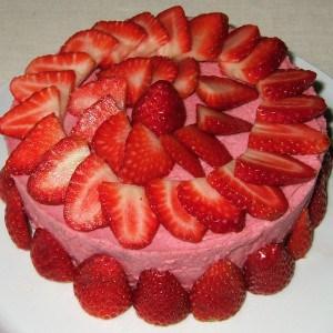Gâteau mousseux aux fraises
