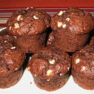 Mini muffins aux 2 chocolats