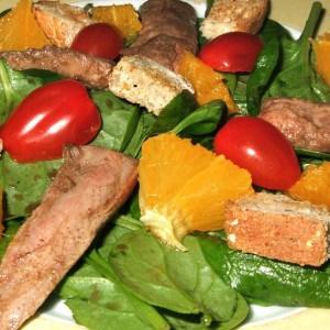 Salade de canard à l'orange