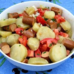Salade alsacienne végétarienne