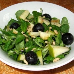 Salade de mâches automnale