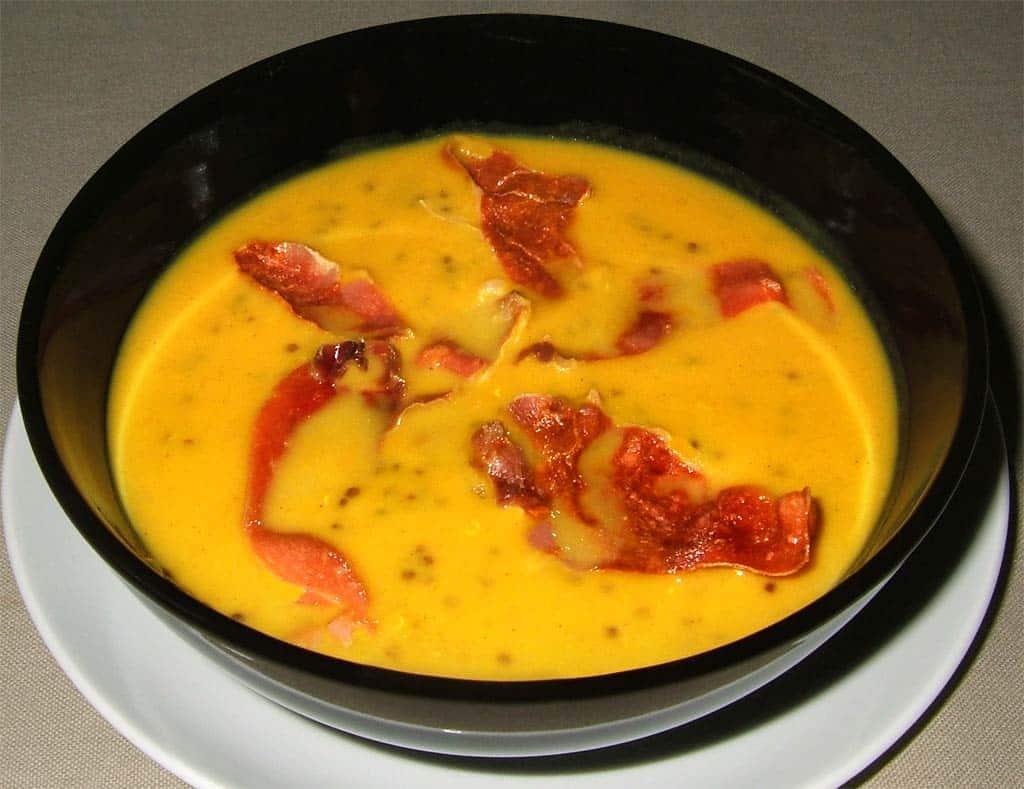 Lovely Veloute De Patates Douces #13: Soupe De Patate Douce Au Quinoa Rouge Et Chips De Serrano - Ma Cuisine Santé