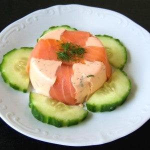 Timbale aux deux saumons