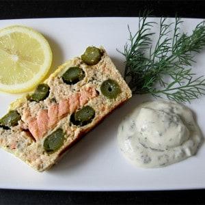Terrine de saumon et asperges vertes