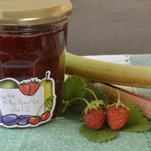 Confiture de fraise et rhubarbe