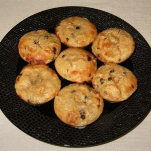 Minis muffins poire et pépites de chocolat