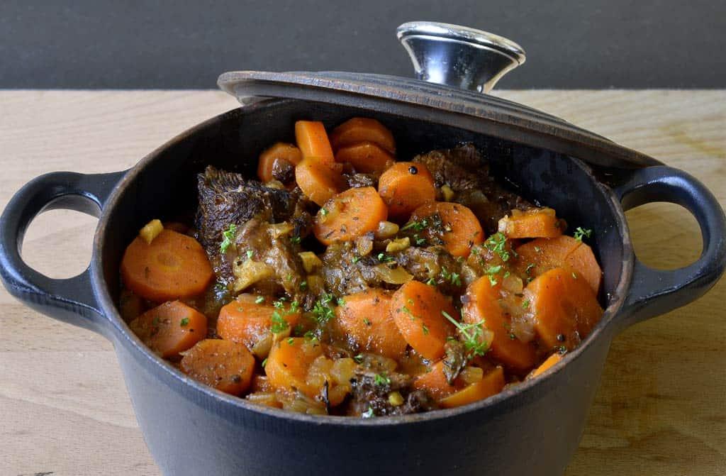 Boeuf aux carottes ma cuisine sant - Cuisiner une joue de boeuf ...