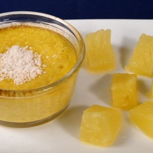 Flan ananas noix de coco