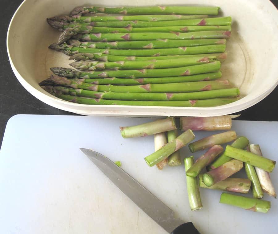 Préparation des asperges vertes Ma Cuisine Santé