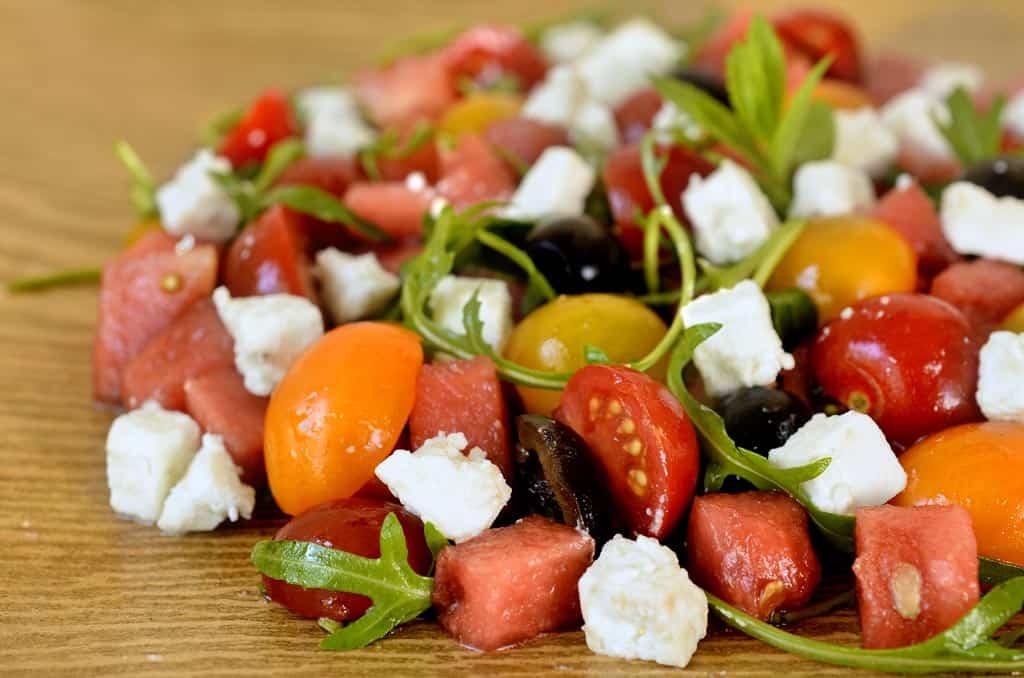 Salade de tomate et past que la grecque ma cuisine sant - Salade de pasteque ...
