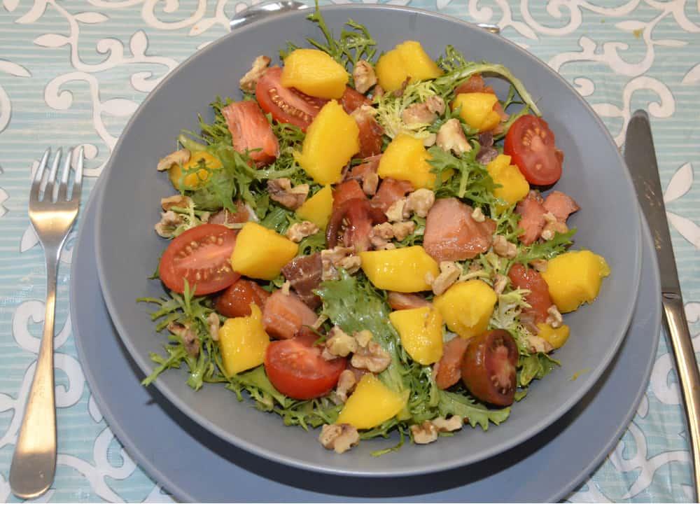Salade de mangue et saumon fum ma cuisine sant - Cuisine et sante saint gaudens ...