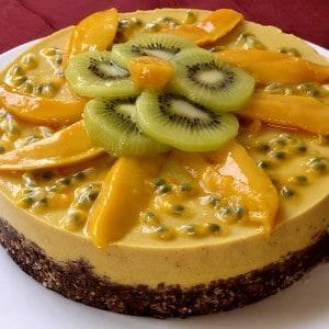 Cheesecake mangue chocolat végan