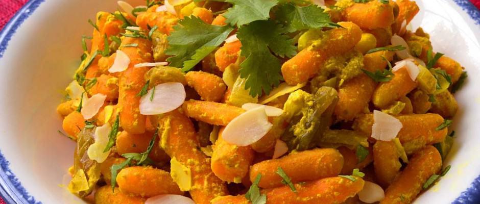 Poêlée de carottes à l'indienne