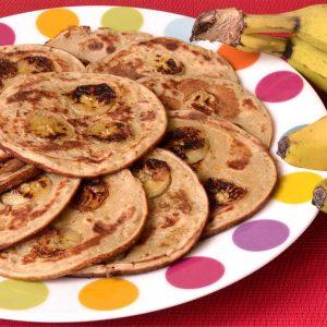 Petites crêpes aux bananes végan et sans gluten