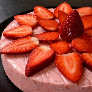 Gâteau aux fraises sans lait