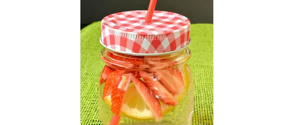 Eau fruitée fraise et citron
