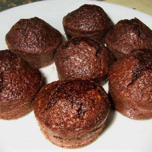 Gâteaux choco-courgette-amande