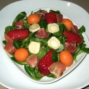 Salade de mâches fruitée