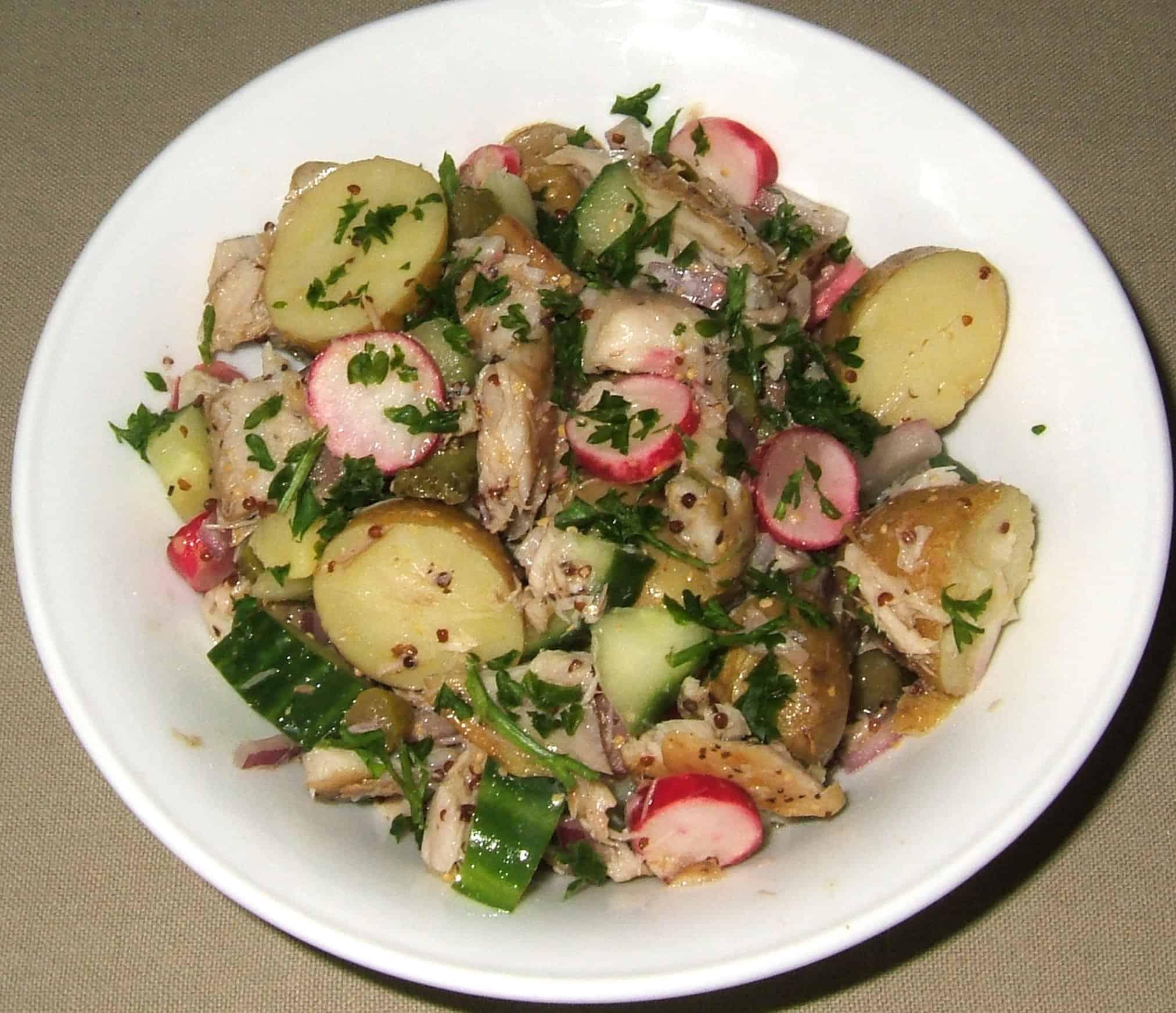 Salade De Pommes De Terre Et Maquereaux Fumes Ma Cuisine Sante