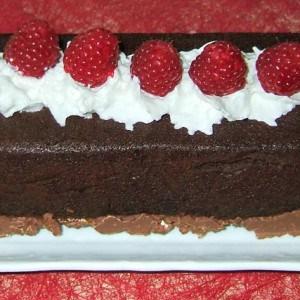 Gâteau choco croc et framboises