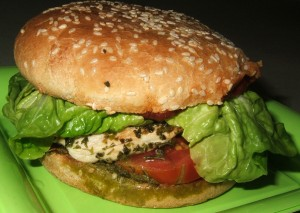 hamburger de poulet