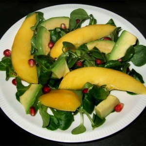 Salade de mâches mangue-avocat