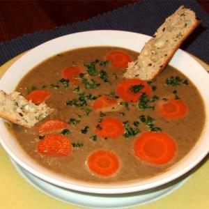 Soupe express aux lentilles et carottes