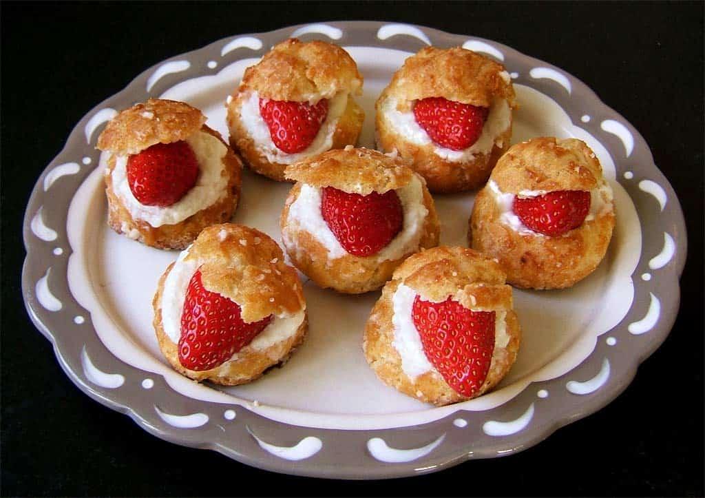 Petits choux surprise aux fraises ma cuisine sant - Cuisine et sante saint gaudens ...