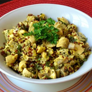 Sauté de champignons au quinoa