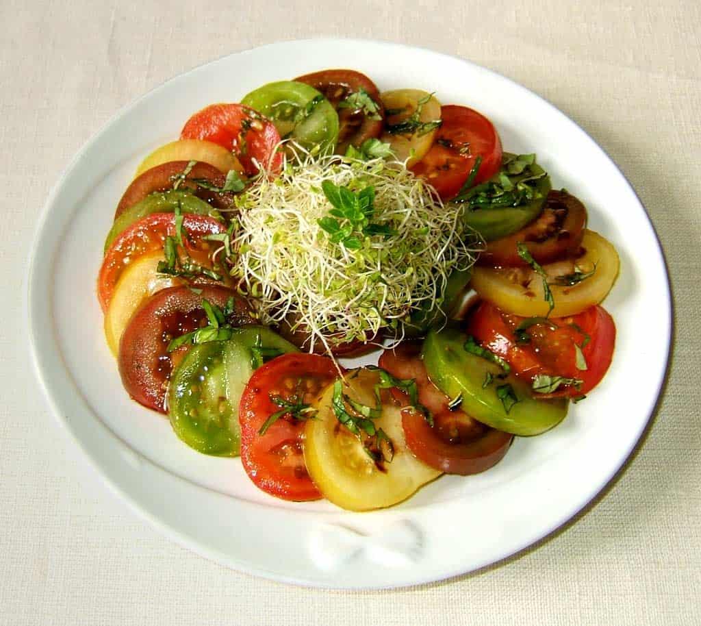 Salade de tomates anciennes ma cuisine sant - Cuisine et sante saint gaudens ...