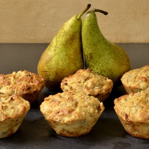 Muffins aux poires et noisettes