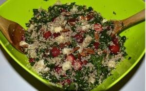 salade kale quinoa et fraises