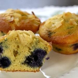 Muffins aux myrtilles ou bleuets
