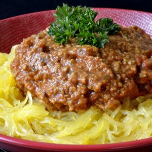 Spaghetti bolognaise végan