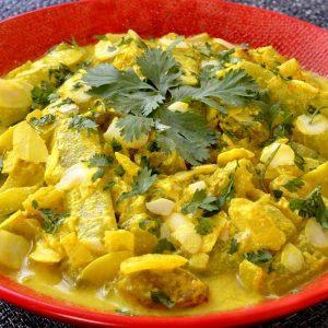 Concombre cuit à l'indienne