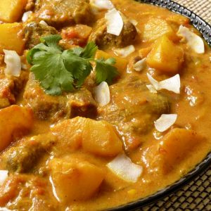 Curry d'agneau aux fruits