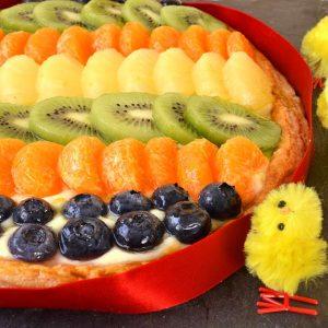 Tarte feuilletée multi-fruits œuf de Pâques pas à pas