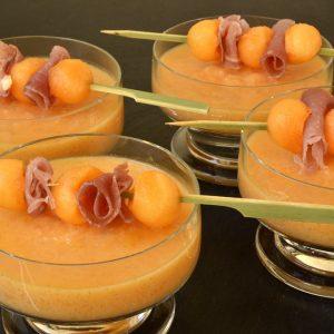 Soupe froide au melon