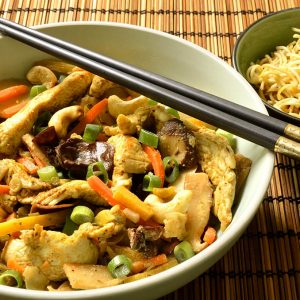 Poêlée asiatique au poulet