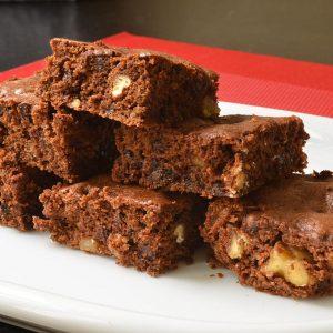 Brownies au potiron et aux noix