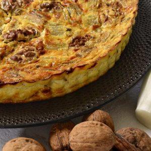 Quiche sans pâte aux endives, Roquefort et noix
