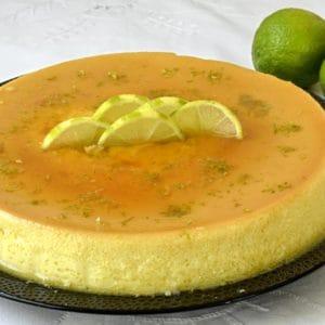 Crème renversée au citron vert