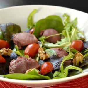 Salade aux gésiers de canard confits