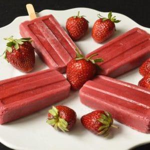 Esquimaux aux fraises sans lait