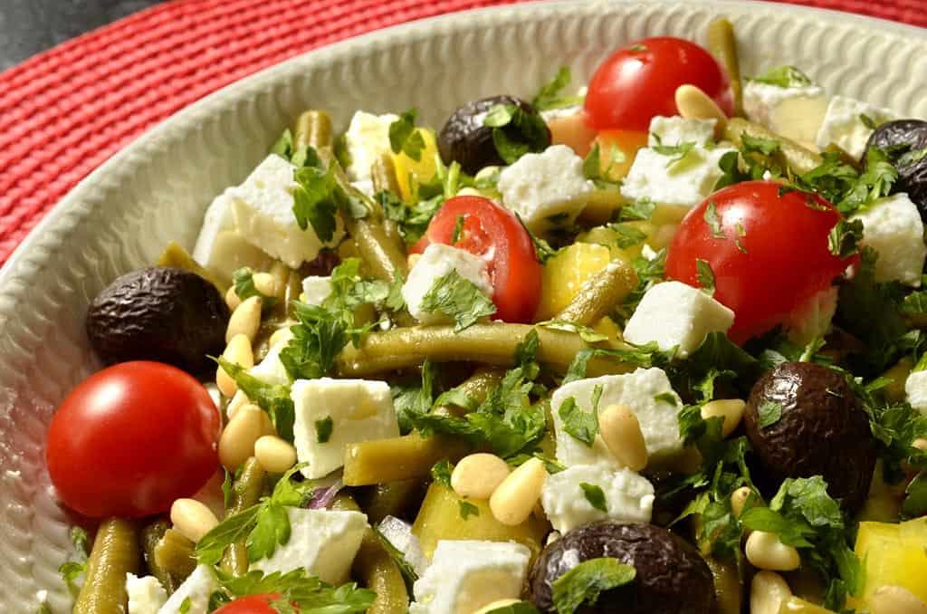 salade de haricots verts la grecque ma cuisine sant. Black Bedroom Furniture Sets. Home Design Ideas